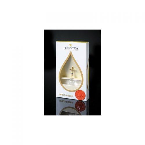 Empaque de lujo con burbuja base plana con agua del río Jordán, oro laminado 24k-103