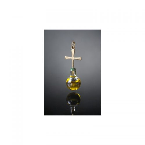 Colgante plano con aceite de oliva, oro laminado 24k-113