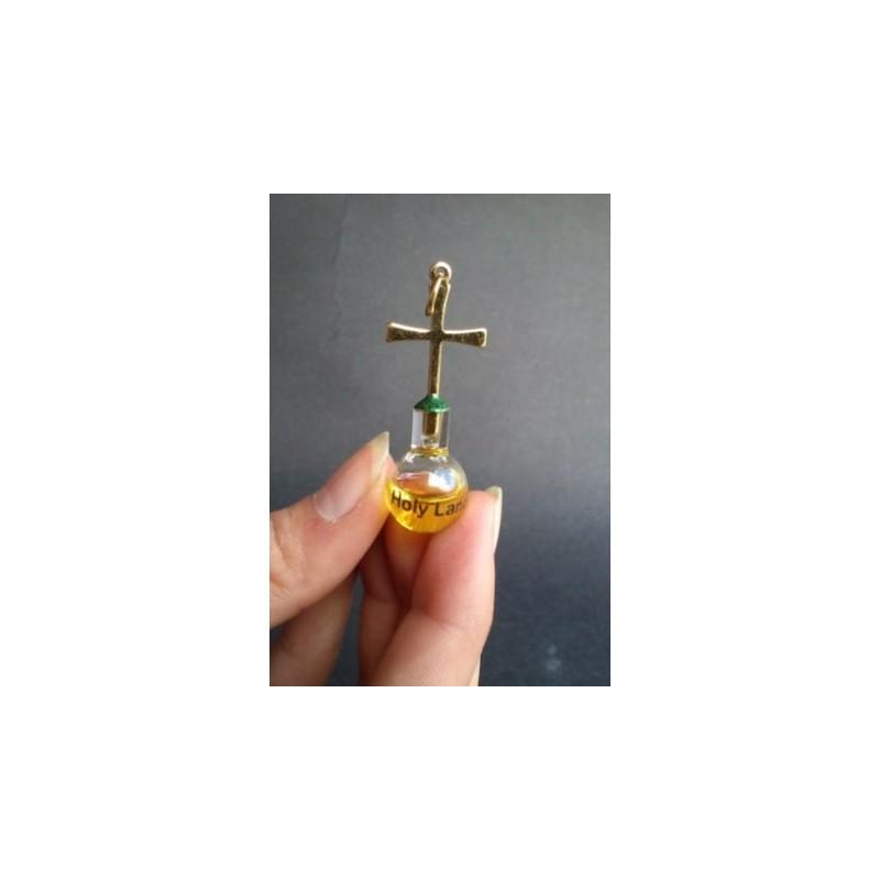 Colgante plano con aceite de oliva, oro laminado 24k-114