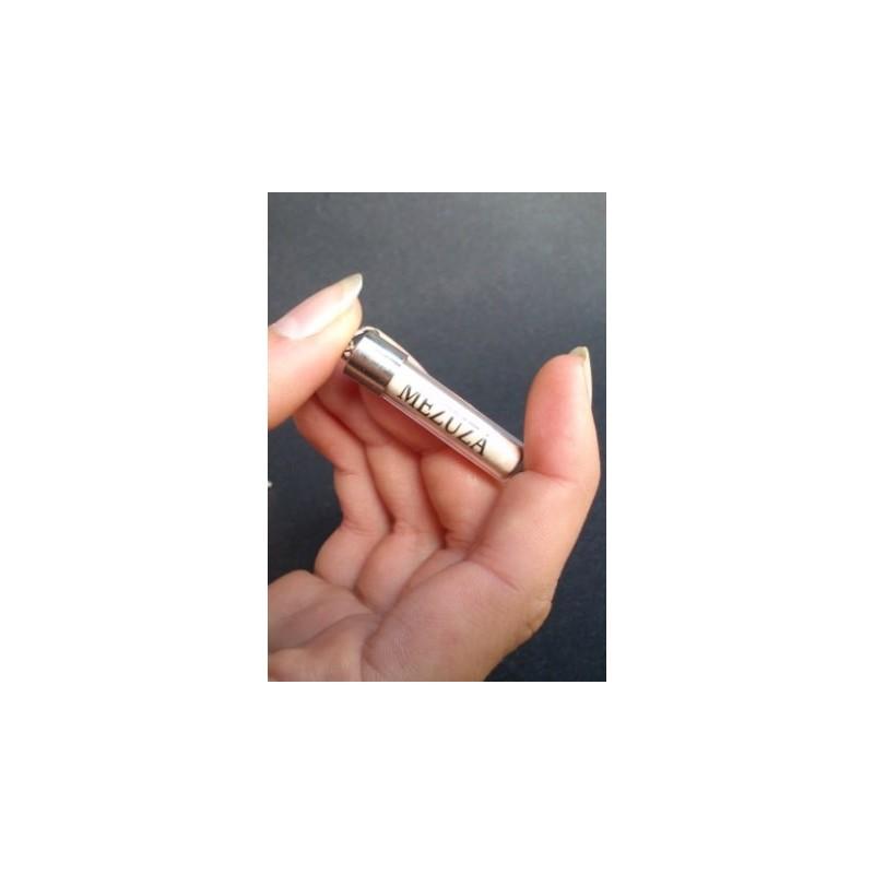 Mezuzá en tubo de cristal-122