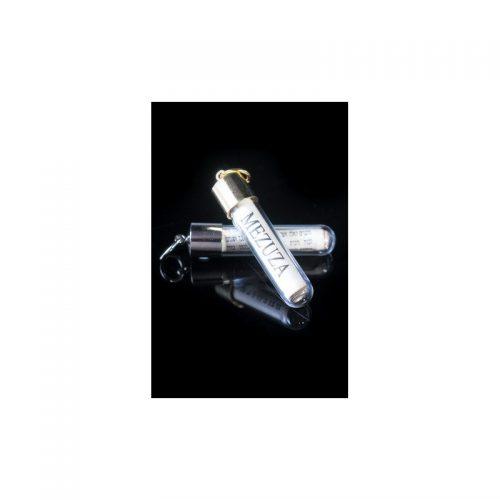 Mezuzá en tubo de cristal-123