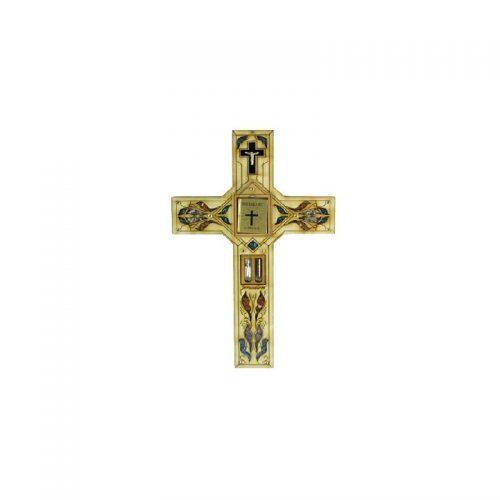 Cruz con Biblia (en español), Agua del Río Jordán, Piedras semi preciosas-133