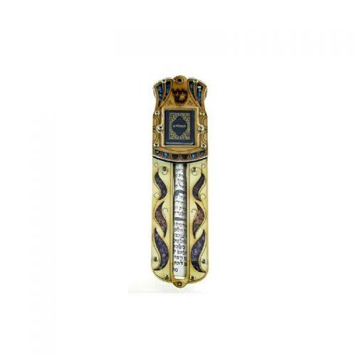 Mezuzá grande con Oración y piedras semi preciosas-198