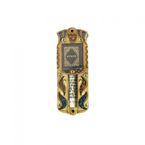 Mezuzá pequeño con Oración y piedras semi preciosas-203