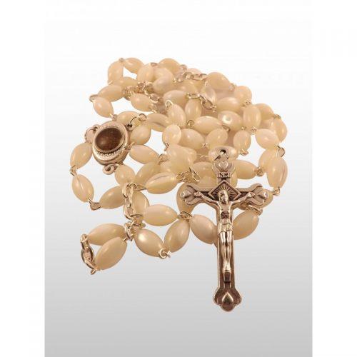Rosario de Madre Perla, con tierra de Tierra Santa-392