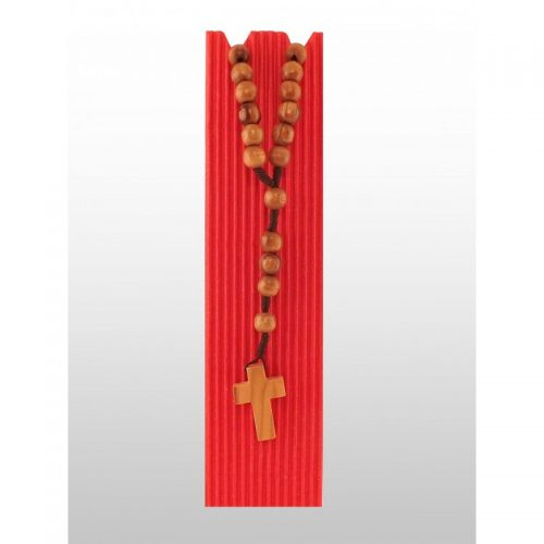 Rosario de madera de olivo (perlas redondas)-400