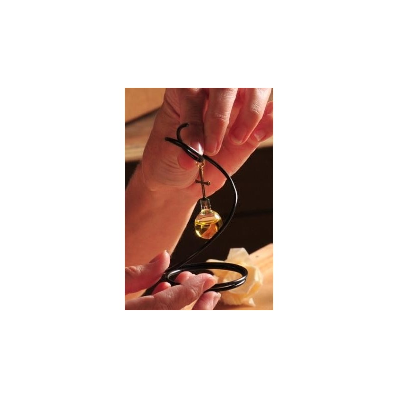 Empaque de lujo con colgante de espiral con aceite de oliva, oro laminado 24k-88