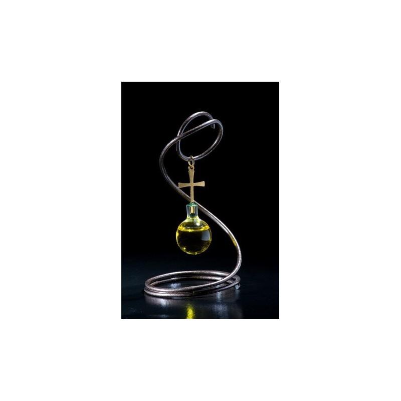 Empaque de lujo con colgante de espiral con aceite de oliva, oro laminado 24k-89