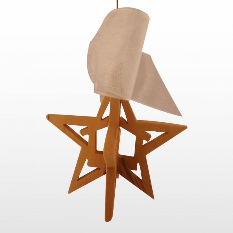 Adorno Colgante Navideño - 3D - Hecho a mano de madera de olivo-260