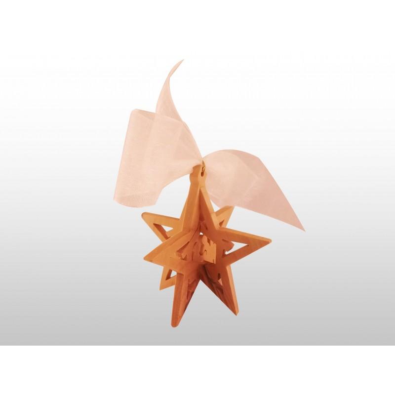 Adorno Colgante Navideño - 3D - Hecho a mano de madera de olivo-261