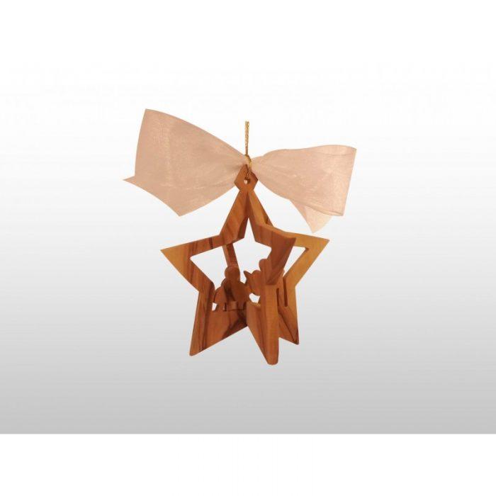 Adorno Colgante Navideño - 3D - Hecho a mano de madera de olivo-262