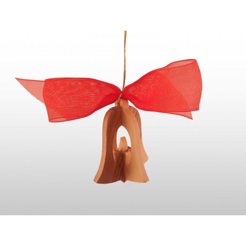 Adorno Colgante Navideño - 3D - Hecho a mano de madera de olivo-265