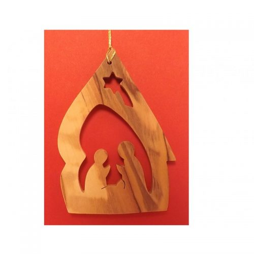 Adorno Colgante Navideño - Hecho a mano con madera de olivo-267