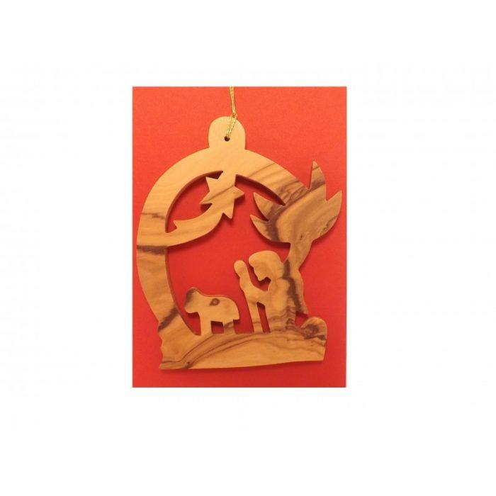 Adorno Colgante Navideño - Hecho a mano con madera de olivo-268