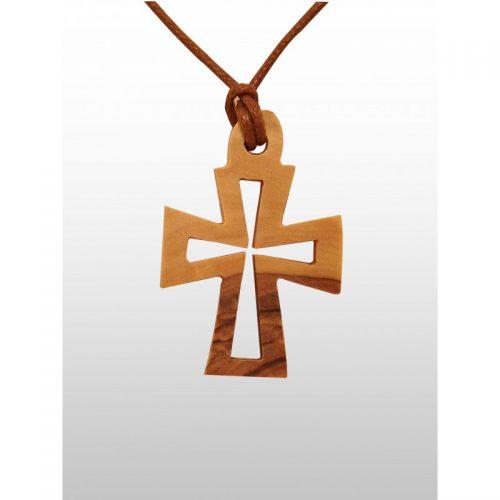 Colgante Cruz Varios Diseños - Hecho de madera de olivo - Pequeño-307
