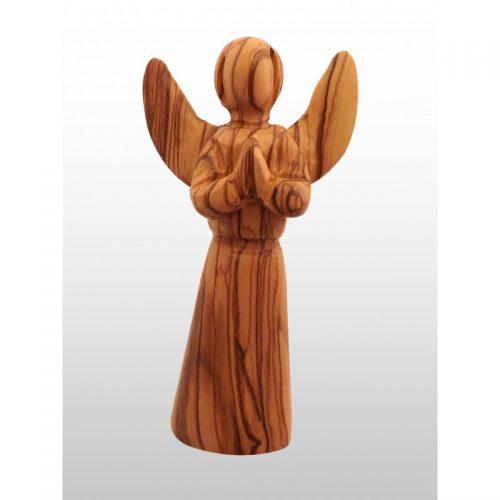 Angel hecho a mano de madera de olivo - Grande-416