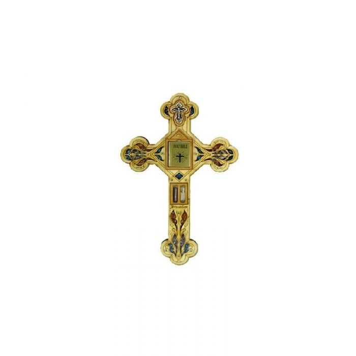 Cruz con Biblia (en español), Agua del Río Jordán, Piedras semi preciosas