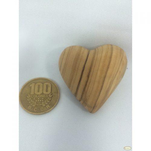 Corazón hecho a mano de madera de olivo - Pequeño