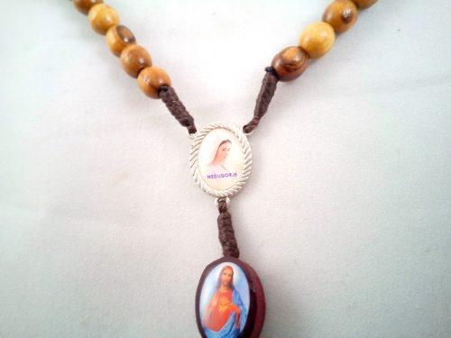 Rosario perlas redondas con íconos